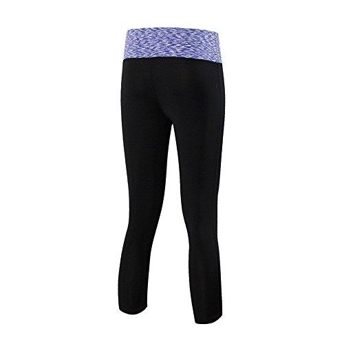 ESHOO Femmes Physique Leggings Mince Yoga Fonctionnement Des Pantalons De Yoga Sport Violet