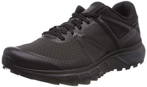 Salomon Herren Trailrunning-Schuhe, TRAILSTER, Farbe: Grau/Orange (Stormy Weather/Navy Blazer/Valiant Poppy), Größe: 40