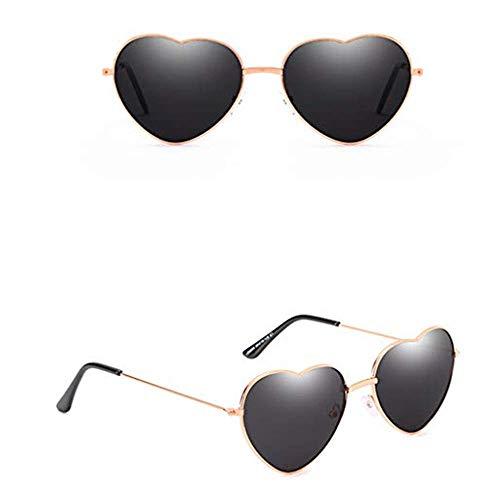 Yazidan Herzform Sonnenbrillen für Frauen, Brillengläser Eyewear Polarisierte Sportbrille Sonnenbrille, Sport-Sonnenbrille Fahrradbrille Männer Frauen für Angeln, Skifahren, Golf, Laufen, Radfahren