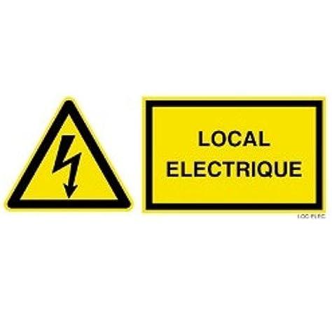 Autocollant sticker porte placard bureau magasin local electrique panneau