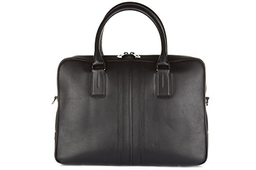 Tod's borsa lavoro portadocumenti pc notebook cartella pelle double stripe nero