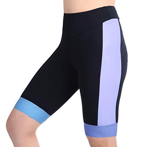 Anivivo Damen Radhose 3D Gel mit Quick Dry Mesh, Frauen Bike Shorts mit Bulk Polsterung, Violett (1), X-Large