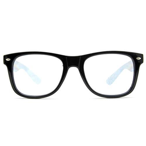 GloFX Ultimative Beugungs Brille - mattschwarz - Rave-Brillen, Lichtshows, Regenbogen-Prisma-Kaleidoskop Brechungslinsen