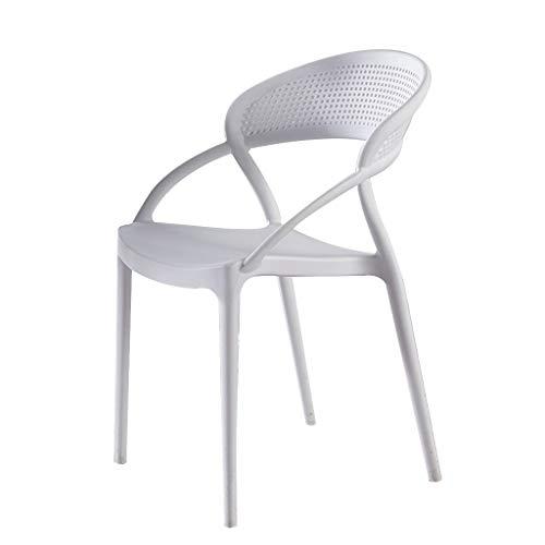 LXQGR Plastikgartenstühle, Faltbare Gartenstühle, Plastikstuhl der nordischen Gaststätte erwachsenes kreatives Netz der einfachen modernen Mode rote Starke Rückenlehne, die Stuhlschreibtischstuhlhaus