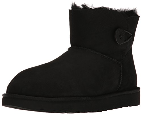 UGG Australia Mini Bailey Button, Scarpe a Collo Alto Donna Schwarz (Nero)