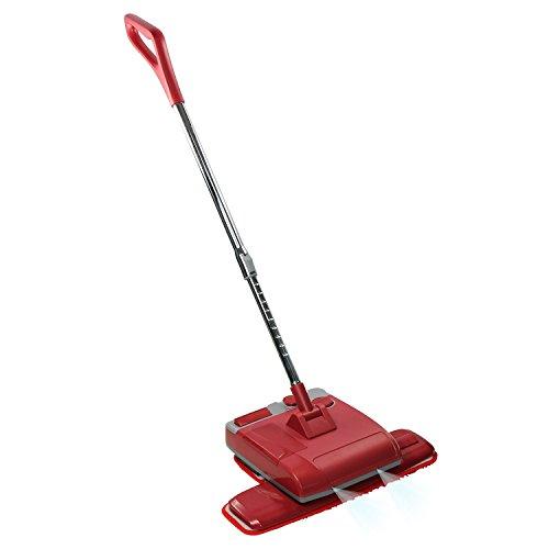 Preisvergleich Produktbild Boden Wachsmaschine Poliermaschine 4-in-1 Wisch- und Poliergerät Spray Mop, multifunktionaler Bodenwischer mit Wassertank inkl. vier wiederverwendbare Reinigungspads für Marmor, Fliesen, Holzboden(Rot)
