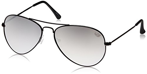 Flying Machine Aviator Sunglasses (Matte Black) (FMS-059|204D)  available at amazon for Rs.553