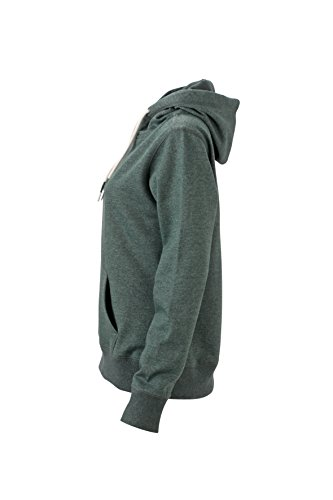 James & Nicholson Damen Hoody Sweatshirt Grün (Dusty-Green-Melange)