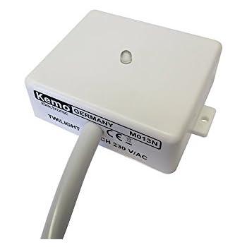 Module interrupteur crépusculaire Kemo M013N (Kit monté) 220 - 240 V/AC Puissance de sortie: 230 V - 3 A 1 pc(s)