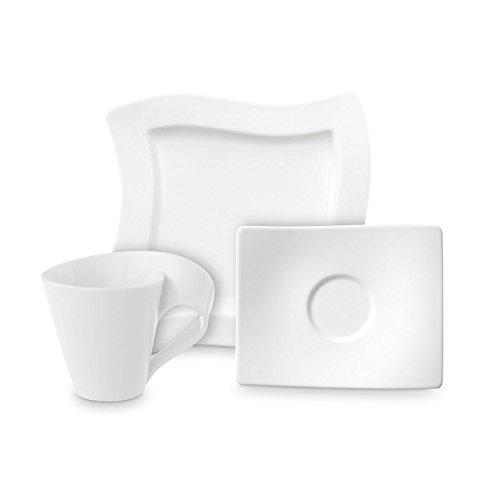 Villeroy & Boch NewWave Kaffee Set / elegantes Kaffee Service aus Porzellan in geschwungener Form / geeignet für bis zu 4 Personen / 1 x Set (12-teilig) Form Porzellan