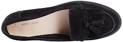 Nuovo Look Damen Liverpool Nappa Slipper Nero (01 / Nero)