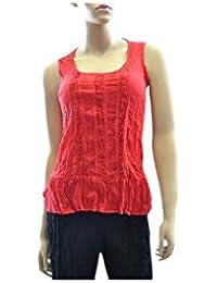 Aller Simplement - Débardeur coton à bretelles larges V3 Rouge