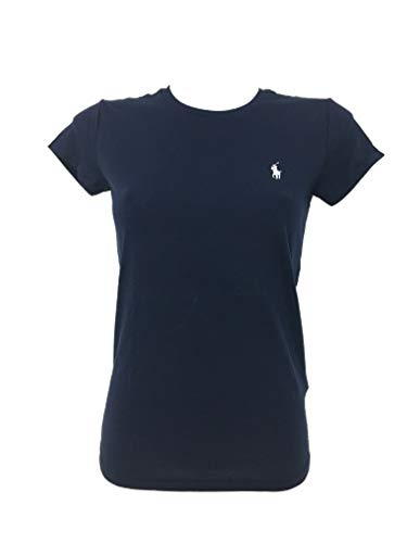 Ralph Lauren Sport Damen Crewneck T-Shirt (Blau, Medium)