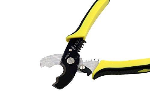 Crimpzange Kabelschneider Abisolierzange Handwerkzeug für Kupfer- und Aluminiumkabel