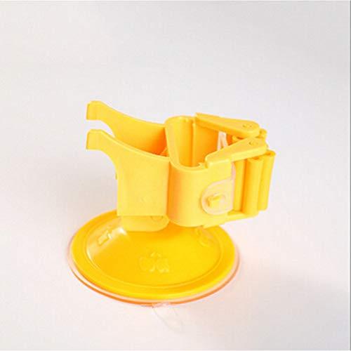 ZJDD Besen KleiderbügelBesenaufbewahrung Saugnapfhalter Wandmopp Hausorganisator Mopp Tupfer Clip Haushalt Zuhause Bequemes Produkt, Orange - Melamin-gestell