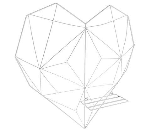 (ShouYu DIY Grid Panel Foto Wand,Ins Mesh Wand,Multifunktion Gitterwand Deko,Memo Brett Organisator Regale (50.5*50cm,Weiß))