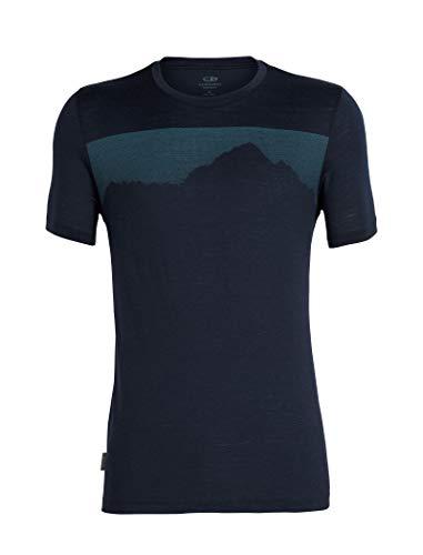 Nur Mens Tee (Icebreaker Herren Mens Tech Lite SS Crewe Cook by Night T-Shirt, Midnight Navy, L)