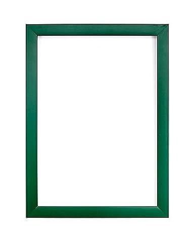 Cadre photo avec feuille de styrène Perspex haute transparence incassable et dos en panneau MDF Gamme de couleurs arc-en-ciel, Plastique, Green, 7