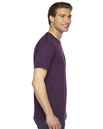 American Apparel Fine Jersey Short Sleeve T-Shirt Aubergine