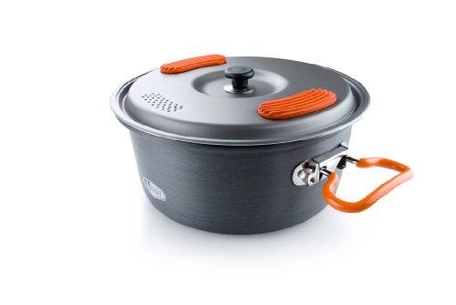 GSI Outdoors Halulite Cook Pot Topf, Unisex Erwachsene, Unisex – Erwachsene, 50192, grau, 2 L (Aluminium-pfanne Rack)