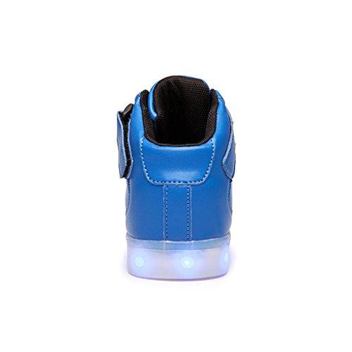 DoGeek Adulto Unisex Scarpe Led Luminosi Sneakers Con Le Luci Accendono Scarpe Sportive Blue2
