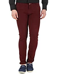 a58a682c6 men in class Men's Slim Fit Cotton Lycra Blend Casual Stretchable Chinos 5  Colours