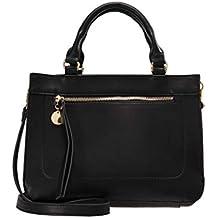 905d4d4620cfe Anna Field Damenhandtasche mit Henkel - Handtasche für Damen mit  abnehmbarem Trageriemen - Tasche mit Reißverschlussfach