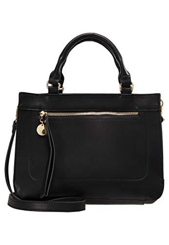 (Anna Field Damenhandtasche mit Henkel - Handtasche für Damen - Tasche elegant - Damentasche, Schwarz)