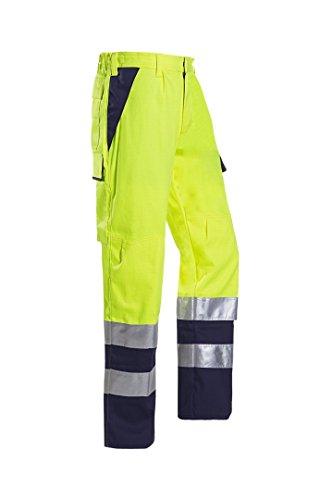 SIOEN 013VN2PFA049I56 Royan Warnhose mit ARC-Schutz, lang, 56, gelb/navy - Arc Schutz