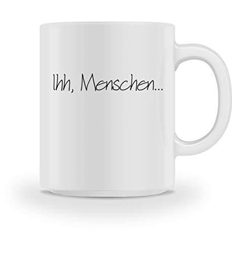 PlimPlom Ihh Menschen Kaffeetasse Ich Hasse Menschen Tasse Spaßgeschenk Spruch Geschenk Idee -...