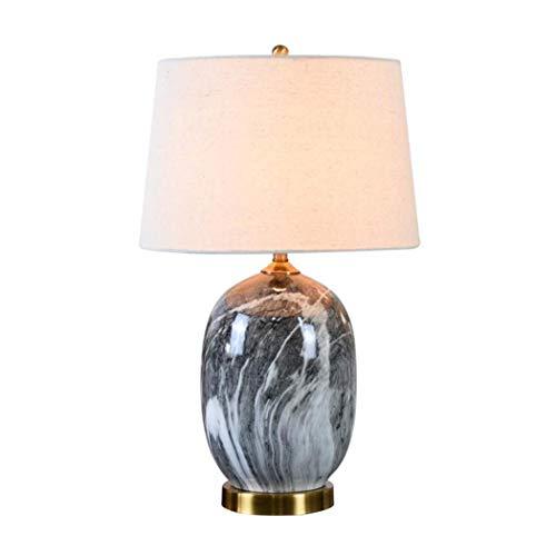 YDYG Lámparas de Mesa de cerámica E27 Lámparas de Escritorio Modernas Pantalla...