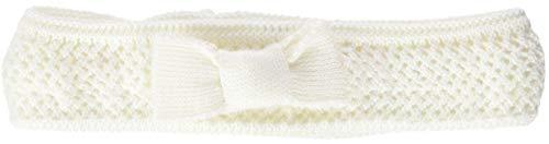 Döll Baby-Mädchen Mütze Stirnband Strick, Weiß (Snow White 1050), 37 cm