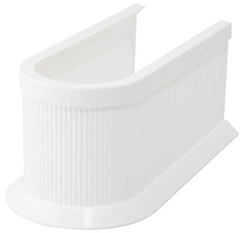 Fackelmann Siphonabdeckung, Rohrverkleidung für Waschbeckenunterschränke - zuschneidbar in Höhe und Länge (Farbe: Weiß), Menge: 1 Stück - Schrank Kunststoff-abdeckung Mit