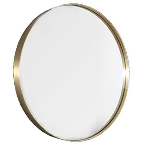 GYX- Deko Moderner Goldener runder Wandspiegel (Durchmesser 30-80cm)
