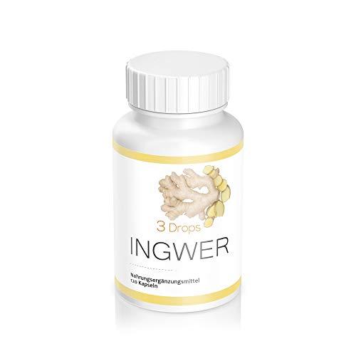 Ingwer 500 mg hochdosiert | 120 Kapseln in Vorratspaket...