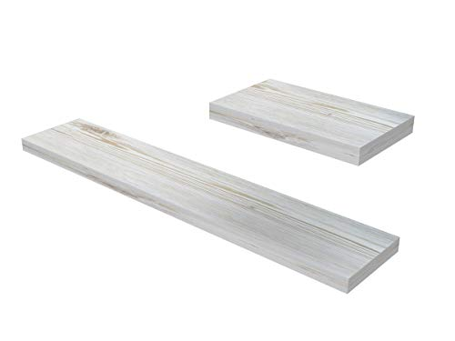 Ve.ca-italy mensole in legno shabby chic 23-40 - 60-80 - 100 cm, arredo casa, design 100% made in italy (23x23x4 cm, shabby chic)