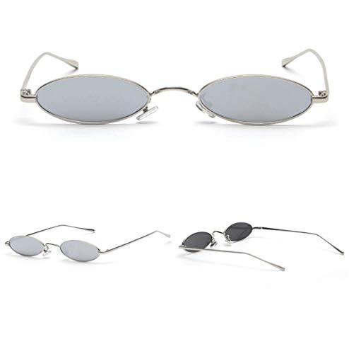 Wang-RX Weinlese-kleine ovale Sonnenbrille-Frauen/Männer Retro klare Linsen-Brillen-Sonnenbrille für weibliches Uv400