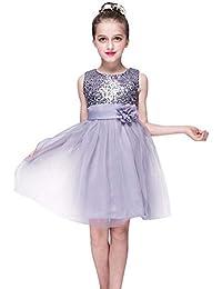 5188f66a1cea Amazon.it  abito argento - Bambine e ragazze  Abbigliamento