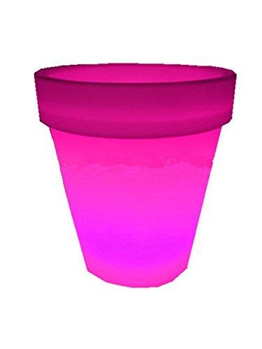 4PCS LED Leuchtmittel Rundes Tablett Blumentopf Farben Wechselhafte Luminous Flash Blumenkübel Übertopf Indoor Pflanztopf - 3