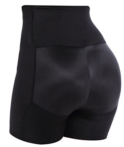 Guaina modellante contenitiva mutande imbottite slip push up glutei per donna nero xx-large