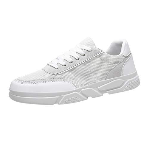 Turnschuhe FüR Mode für Männer Trend Wild Mesh atmungsaktive Low TravelTop TravelTurnschuhe für drinnen und draußen Schuhe Weiß 42 - Weiß Bowling-schuhe
