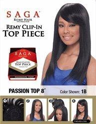 SAGA CLIP- IN TOP PIECE REMY PASSION 20cm - Colour#OM30