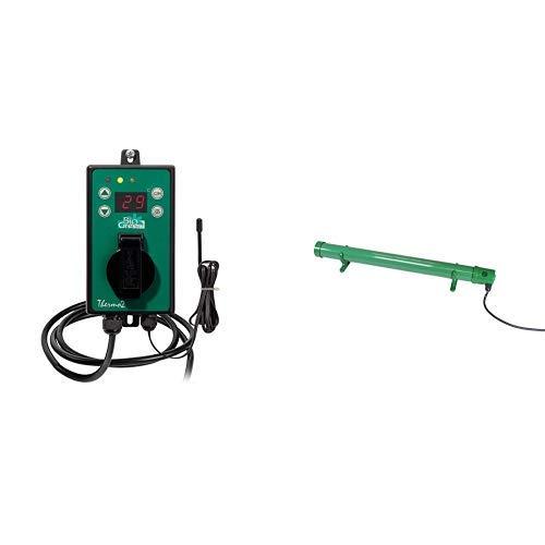 Bio Green Digital-Thermostat, grün, mit Sommer/Winter funktion IP X4 spritzwassergeschützt & Green Elektro-Frostwächter - ohne Thermostat, grün, 80 Watt, steckerfertig