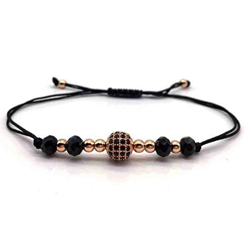 Imagen de jyhw moda hombres mujeres bola trenzada macramé hecha a mano pulsera de hilo de piedra para hombres mujeres joyería regalo del partido,3