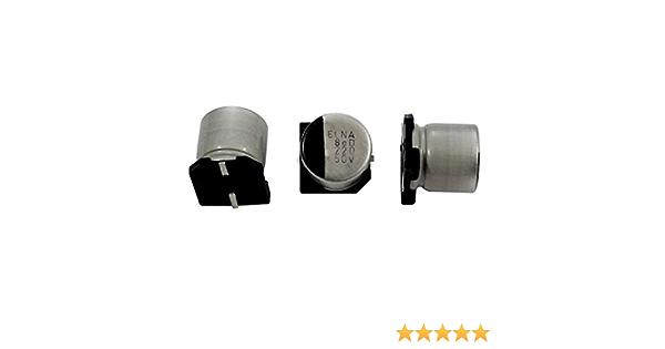 10x SMD Elko Kondensator 220µF 50V 105°C SMD Kondensator #721501