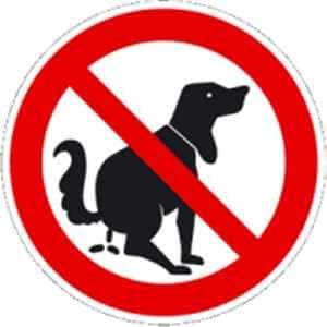 König Werbeanlagen WSK Panneau d'interdiction des crottes de chien Aluminium 20cm de diamètre
