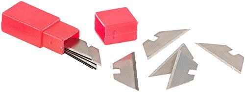 AGT Cutter-Messer: 10 Ersatzklingen für Profi-Mini-Cuttermesser mit Klappsystem, 30 mm (Cutter als Anglermesser, Campingmesser, Arbeitsmesser, Pocket-Messer)