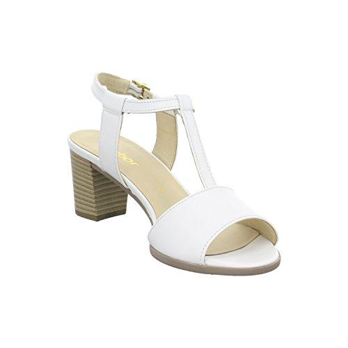 Gabor Bridgeman Sandali 45,890.21, colore: bianco Bianco (bianco)