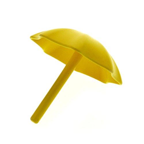 1 x Lego Duplo Schirm gelb Garten- Sonnen- Regenschirm Puppenhaus Möbel Zubehör 2164