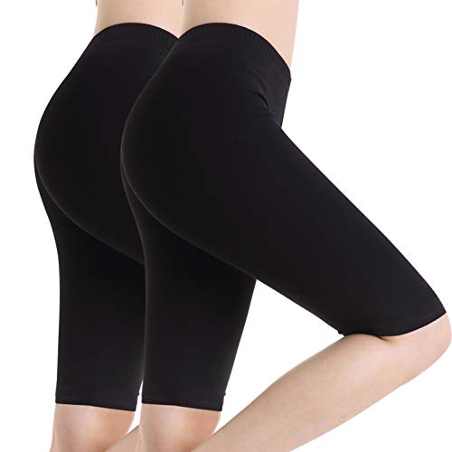 amne Fitness Leggings Unter Kleider Kurze Hose 4 Way Stretch Shorts Knielang ()